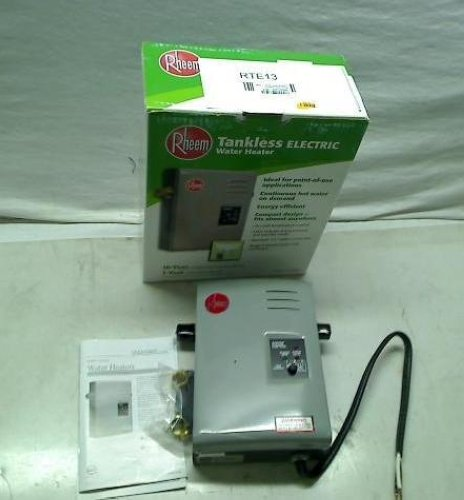 rheem rte 13 electric tankless water heater, 4 gpm on popscreen