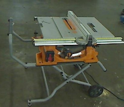 Ridgid 10 In 15 Amp Heavy Duty Portable Table Saw With Stand Ebay