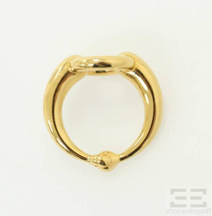 Hermes Gold Plated Open Circle Scarf Ring