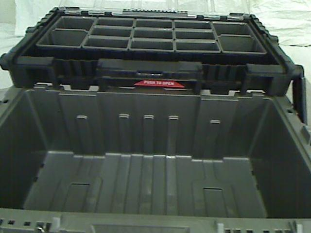 Husky 22 In Cantilever Plastic Tool Box With Metal Latches