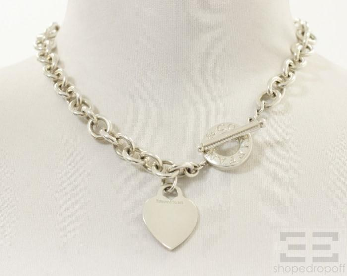 co sterling silver tag toggle necklace ebay
