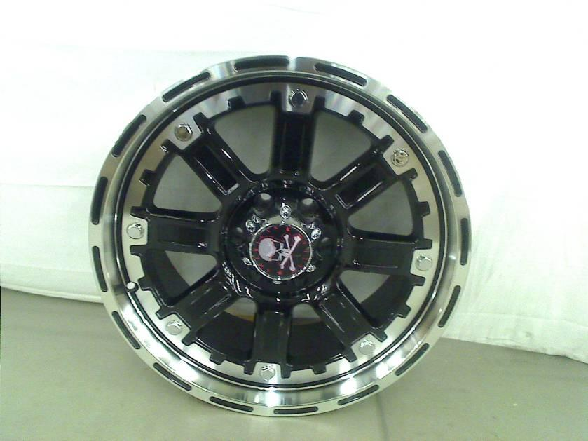 """American Outlaw Armor Black Machined Face Wheel Machined Finish 20x9"""" 6x135mm"""