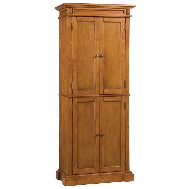 Kitchen Storage Pantry Cabinet Oak ~ Home styles americana pantry storage cabinet distressed