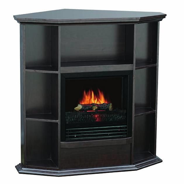 Sylvania Electric Fireplace Heater 1250 Watt With Storage Space Dark Chocolate Ebay