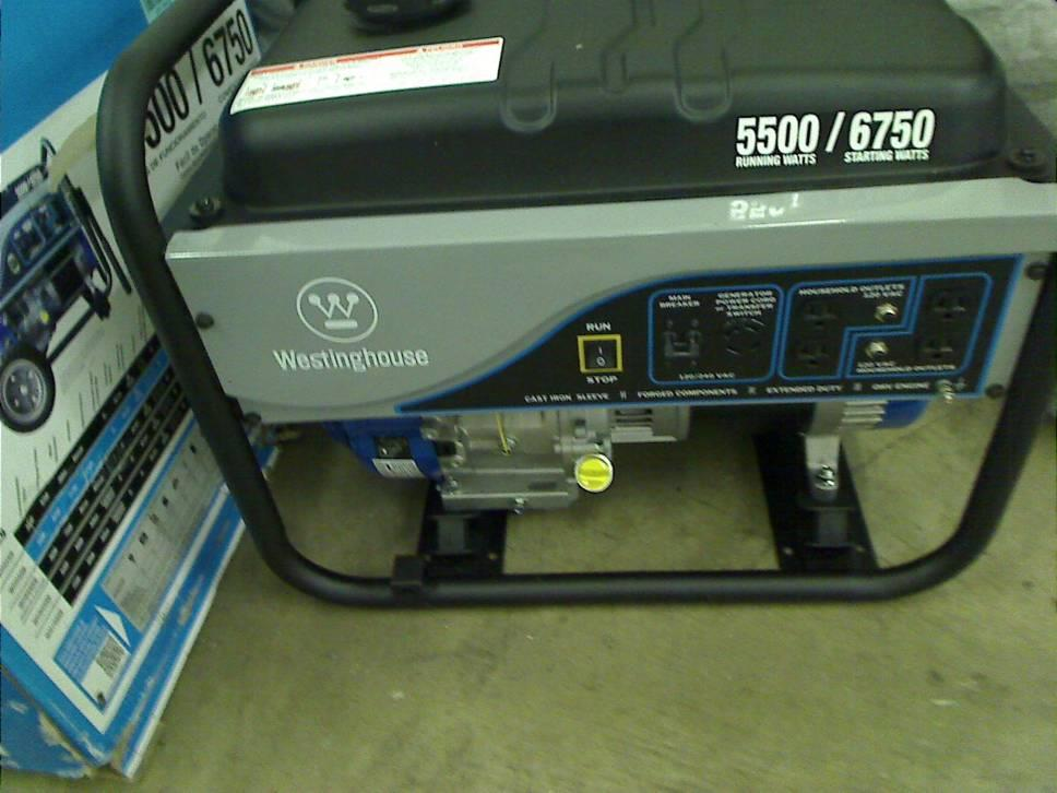 Westinghouse Wh5500 Portable Generator 5500 Running Watts