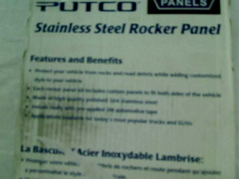 Putco 9751428 Stainless Steel Rocker Panel for for Ford Super Duty Crew Cab