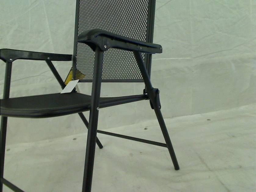 Courtyard creations fls080 folding steel mesh patio chair for Mesh patio chairs