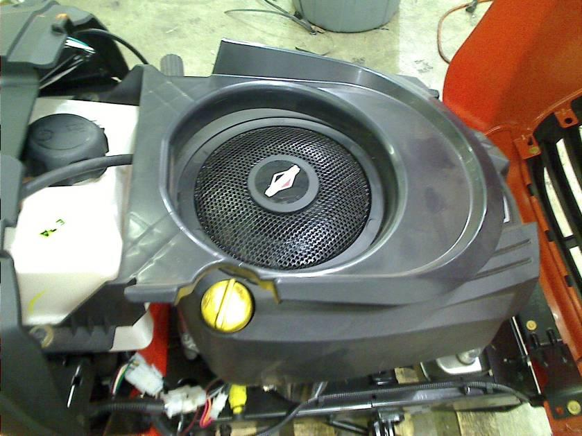 how to change blades on ariens riding mower