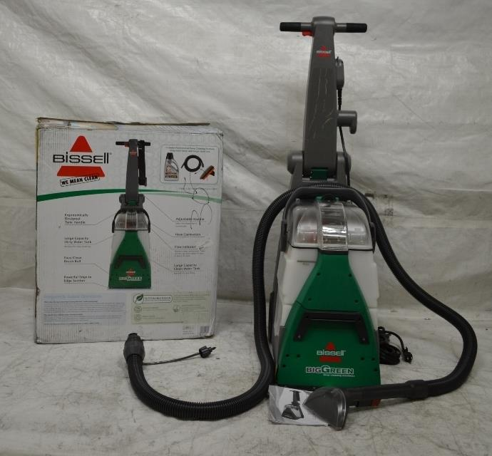 Clean Bissell Big Green Deep Cleaning Machine