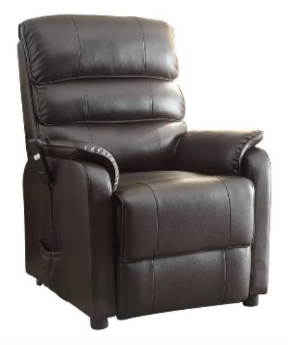 8545 1lt power lift recliner chair dark brown bonded leather ebay