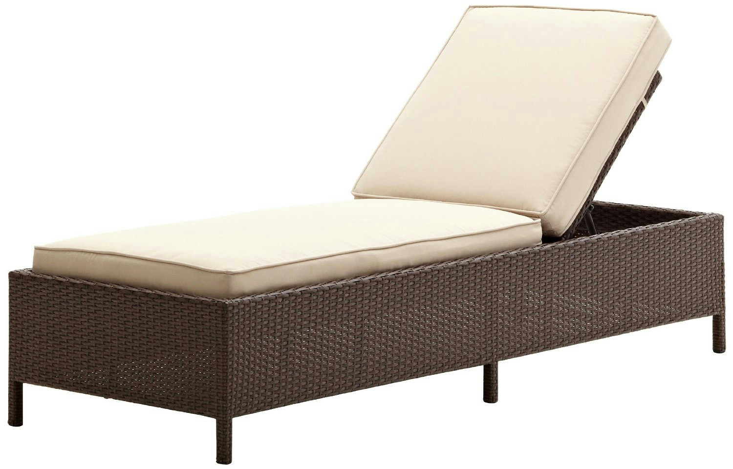 Strathwood griffen all weather wicker chaise lounge ebay for All weather chaise lounge
