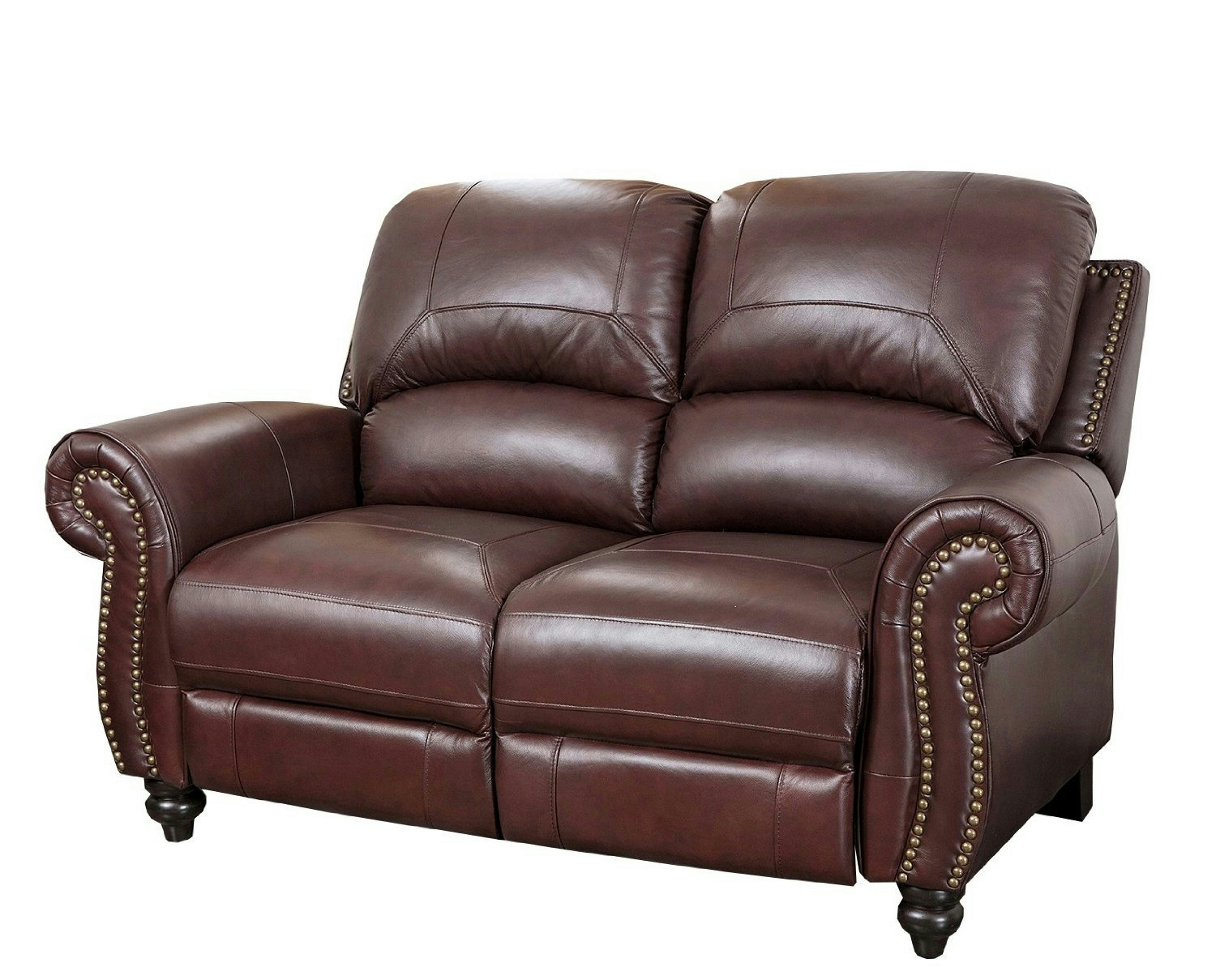Abbyson living durham leather pushback reclining loveseat for Abbyson living sedona leather chaise recliner