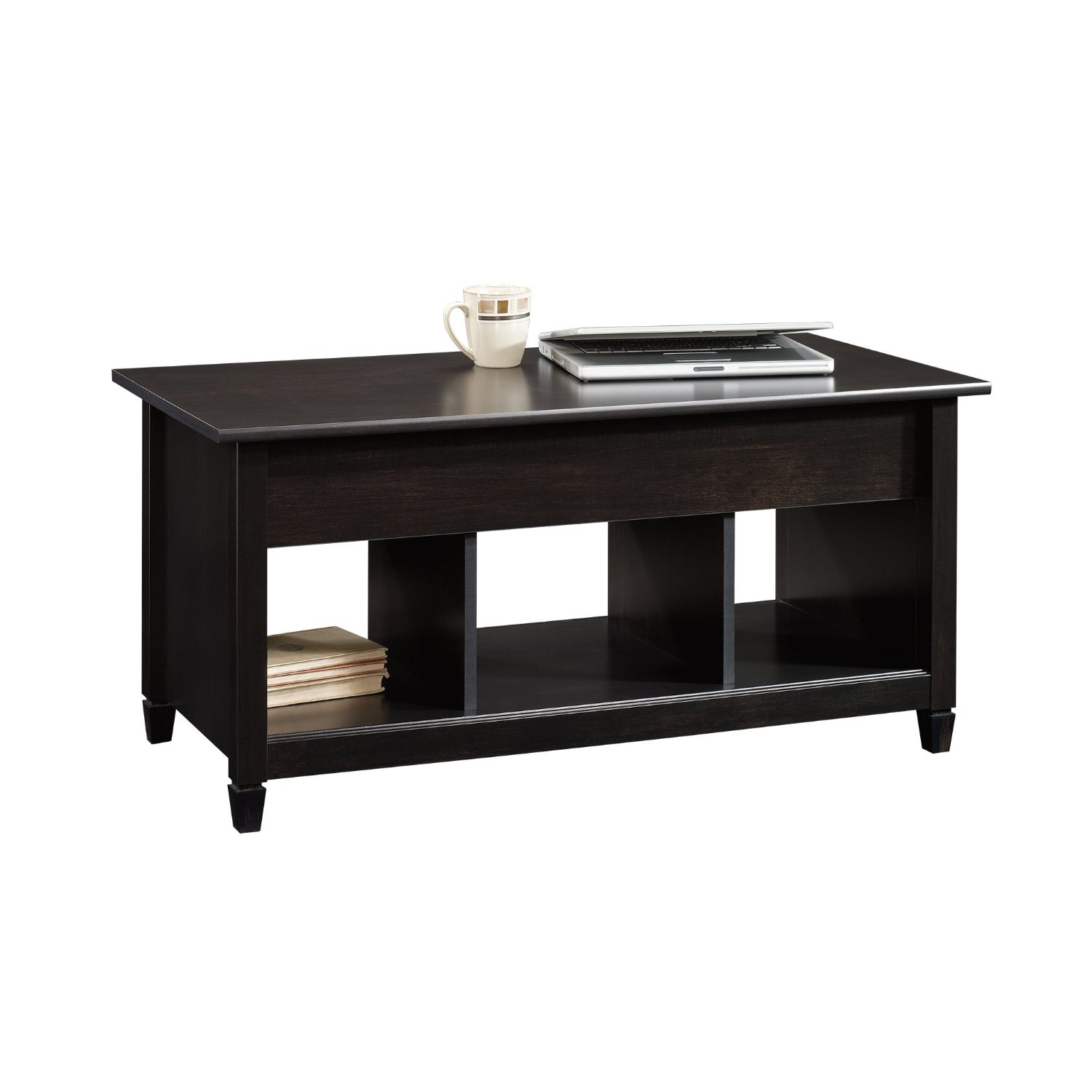 Sauder Edge Water Lift Top Coffee Table Estate Black Finish Ebay