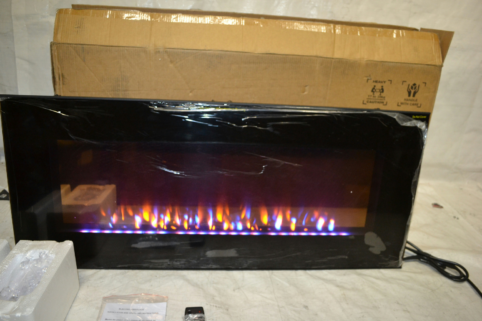 northwest 80 ef455s curved glass electric fireplace wall mount and ...