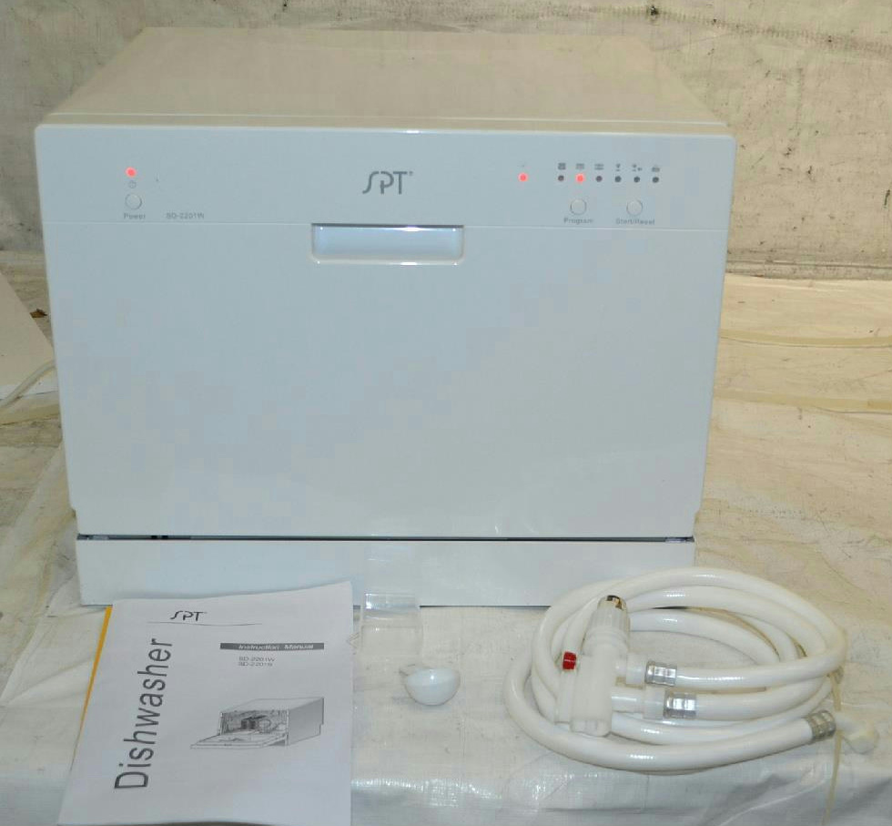 Details about SPT Countertop Dishwasher, White