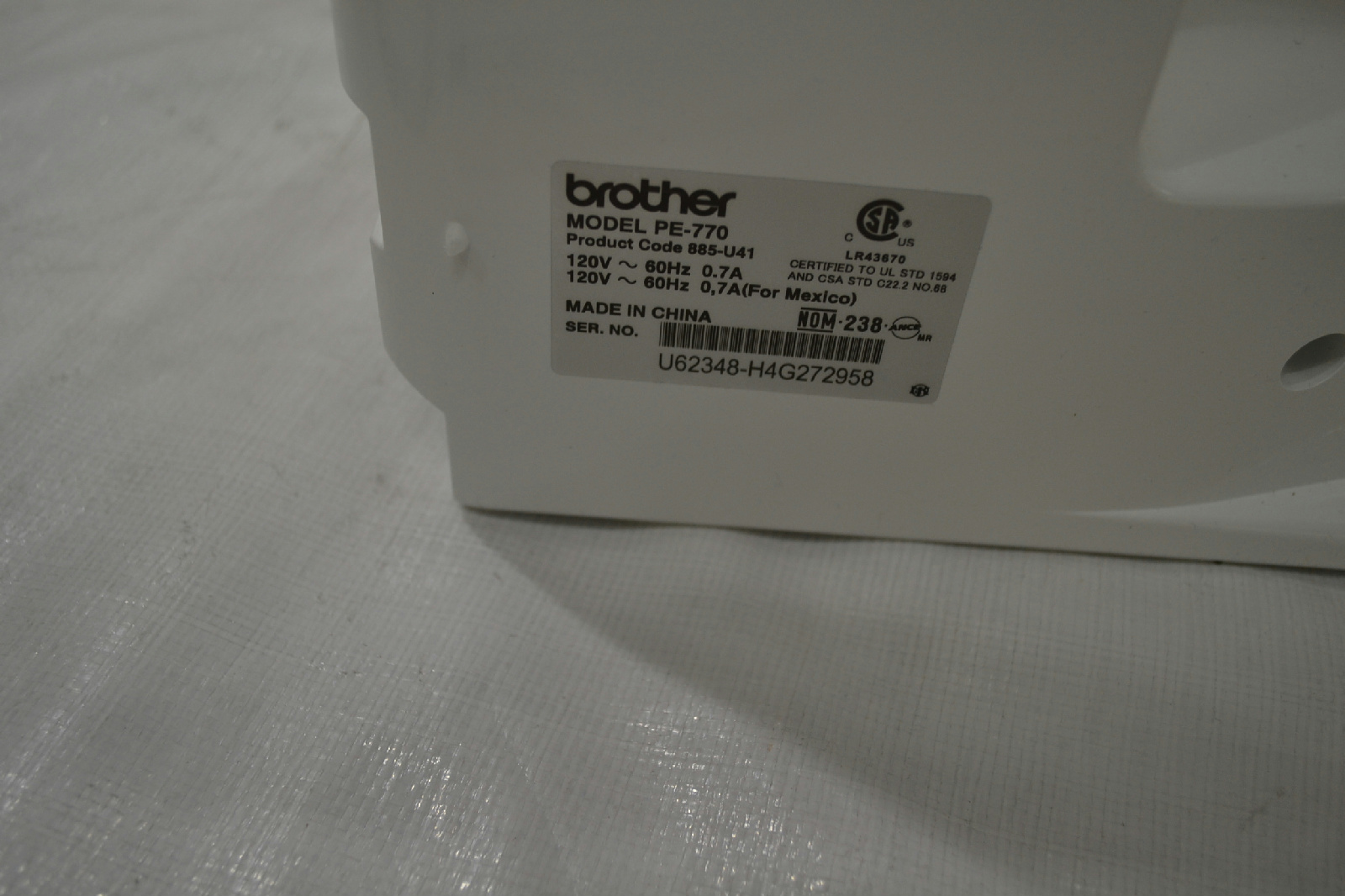 pe770 embroidery machine with usb memory stick compatibility
