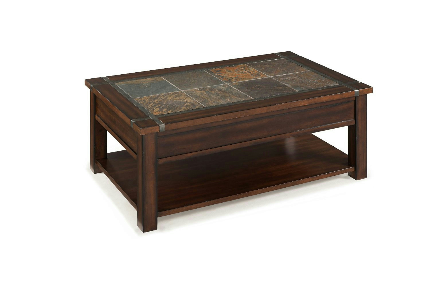 Magnussen t2615 roanoke rectangular lift top cocktail table with casters ebay Coffee tables with casters