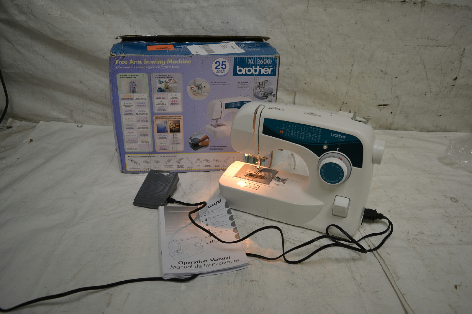 Brother xl2600i sew advance sew affordable 25 stitch free for Machine a coudre xl 2600 brother