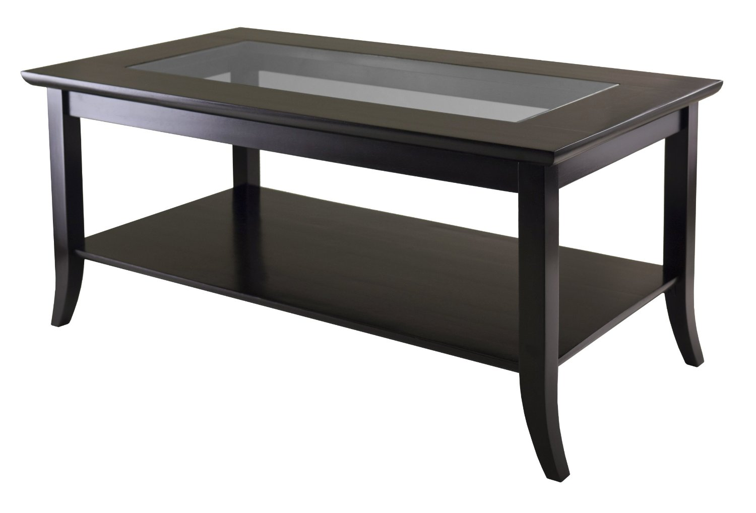 Details About Winsome Genoa Rectangular Coffee Table With Glass Top