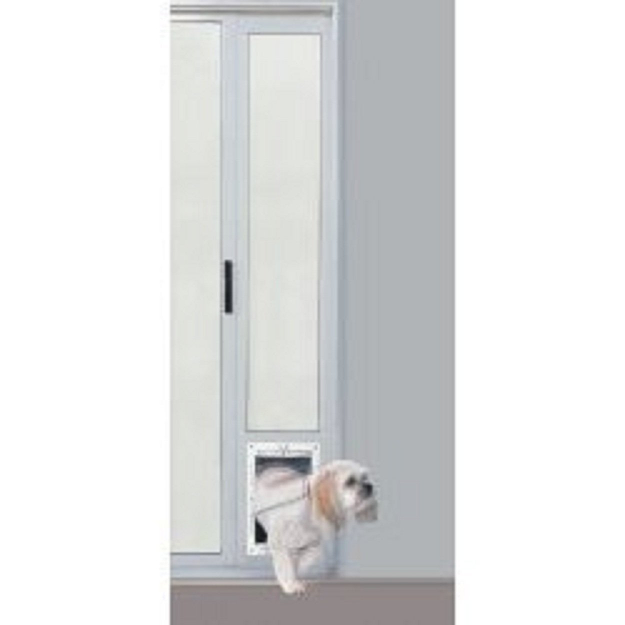 Ideal pet products fast fit patio door for pets medium for Ideal dog door