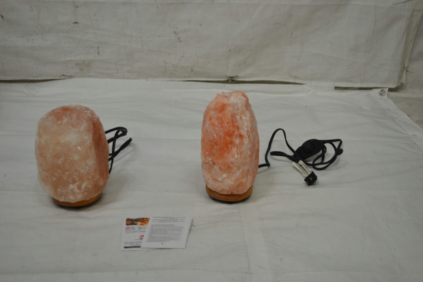 Lot of 2 WBM Himalayan Light Natural Air Purifying Salt Lamp 1002 eBay
