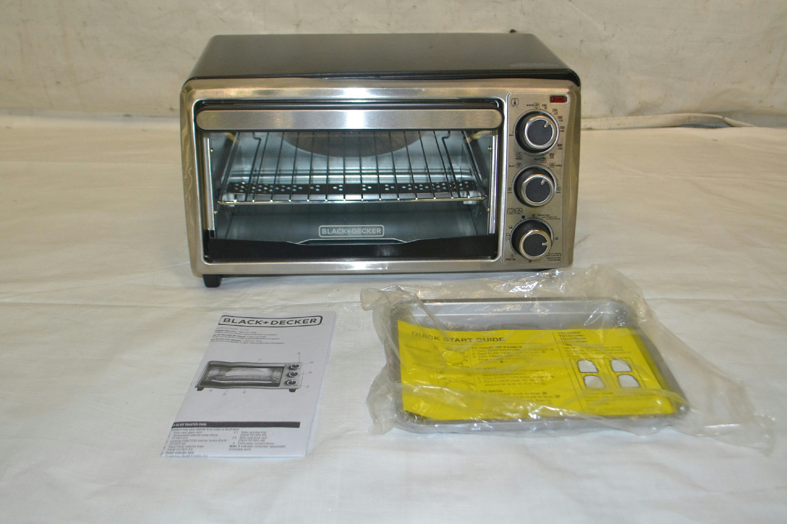 Black And Decker Countertop Oven Not Working : Details about Black and Decker TO1303SB 4-Slice Toaster Oven
