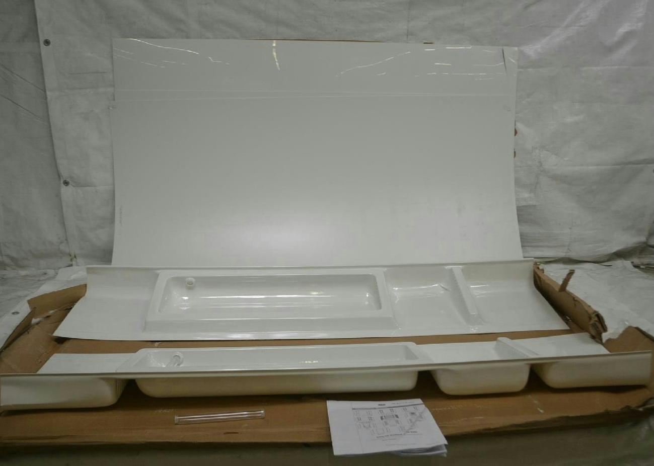 american shower and bath shower kit corner 72 quot h white ebay