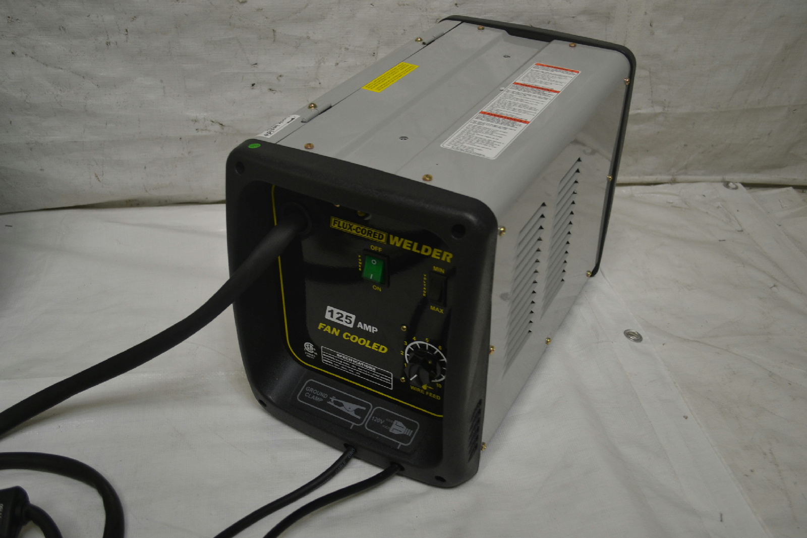 Pro series mmig125 125 amp fluxcore welder kit black ebay for Wire size for 125 amp service