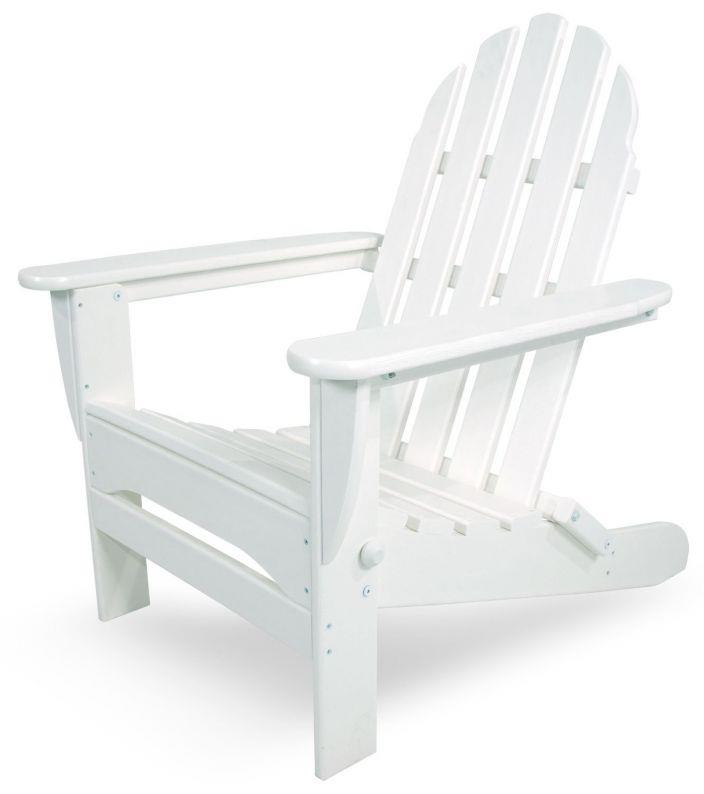 Polywood Outdoor Furniture Classic Adirondack Chair White Recycled Plastic Ebay