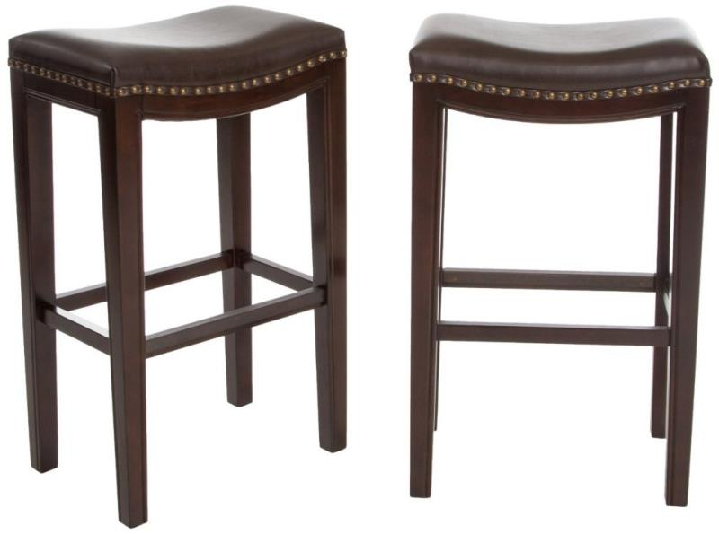 Best Selling Andres Backless Bar Stools Brown Set of 2 eBay : 19431524 from ebay.com size 800 x 595 jpeg 35kB