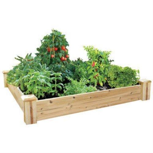 about greenes fence 4 ft x 8 ft x 10 5 in cedar raised garden bed
