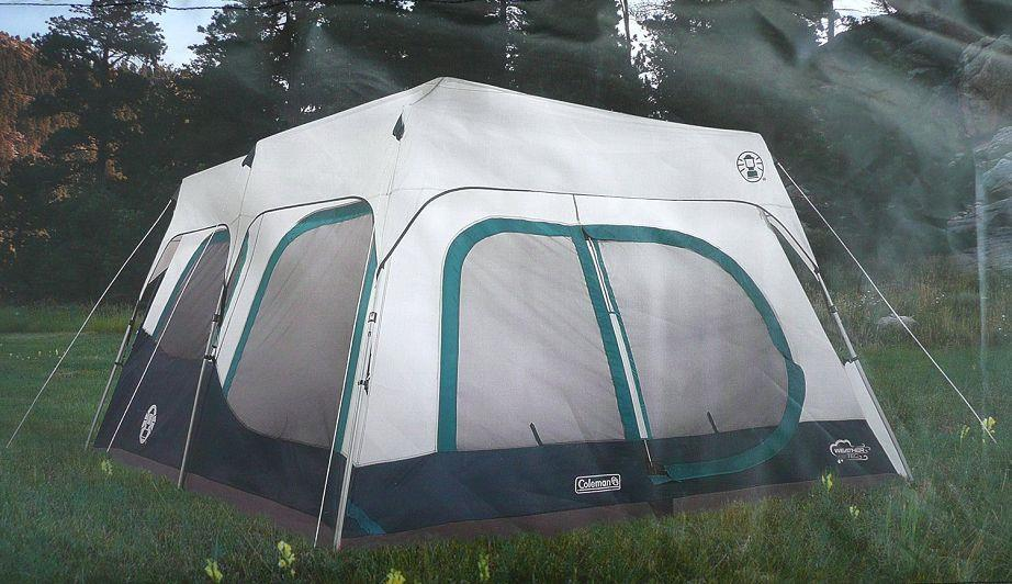 Coleman Instant 10 Person Cabin Tent W Rain Fly 2 Rooms 6