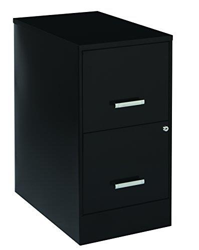Space solutions 2 drawer file cabinet 22 inch deep black ebay - Filing solutions for small spaces photos ...