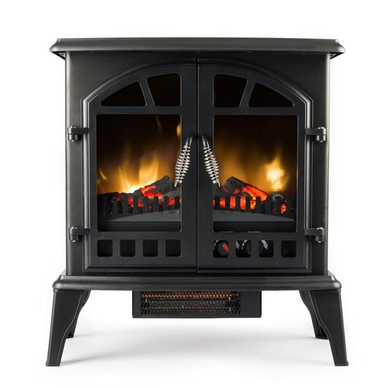 Jasper Free Standing Electric Fireplace Stove 22 Inch Black Portable Electric Ebay