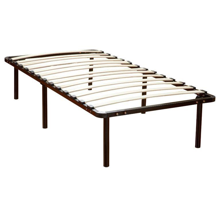 Classic wood slat and metal platform bed frame mattress for Cheap metal twin bed frame