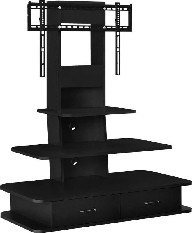 Altra Furniture Galaxy Tv Stand With Mount Drawers 70 Black