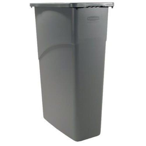 4 new rubbermaid slim jim waste containers rectangular 23 gallons trash cans ebay - Rectangular garbage cans ...