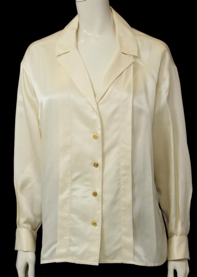 Vintage Chanel Silk Blouse 106