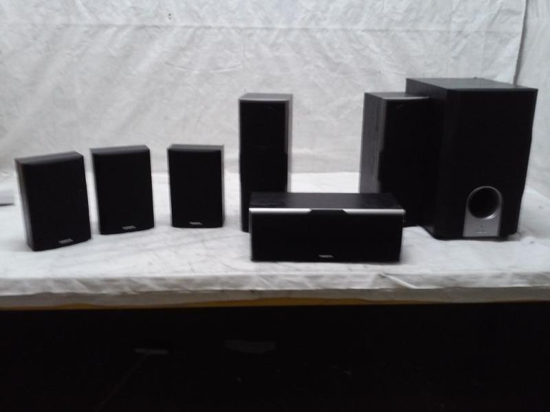 Used Damage Onkyo Sks Ht    Channel Home Theater Speaker System