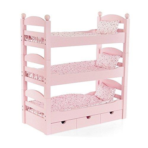 18 inch doll triple bunk bed stackable wooden furniture made to fit dolls ebay. Black Bedroom Furniture Sets. Home Design Ideas