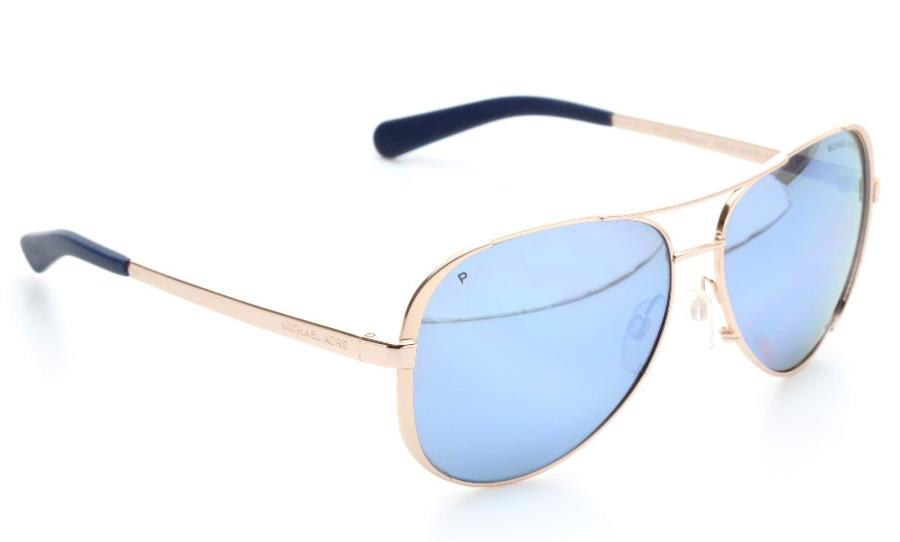 Michael Kors Gold Frame Sunglasses : Michael Kors Gold Aviator Frame & Blue Mirrored Lens ...