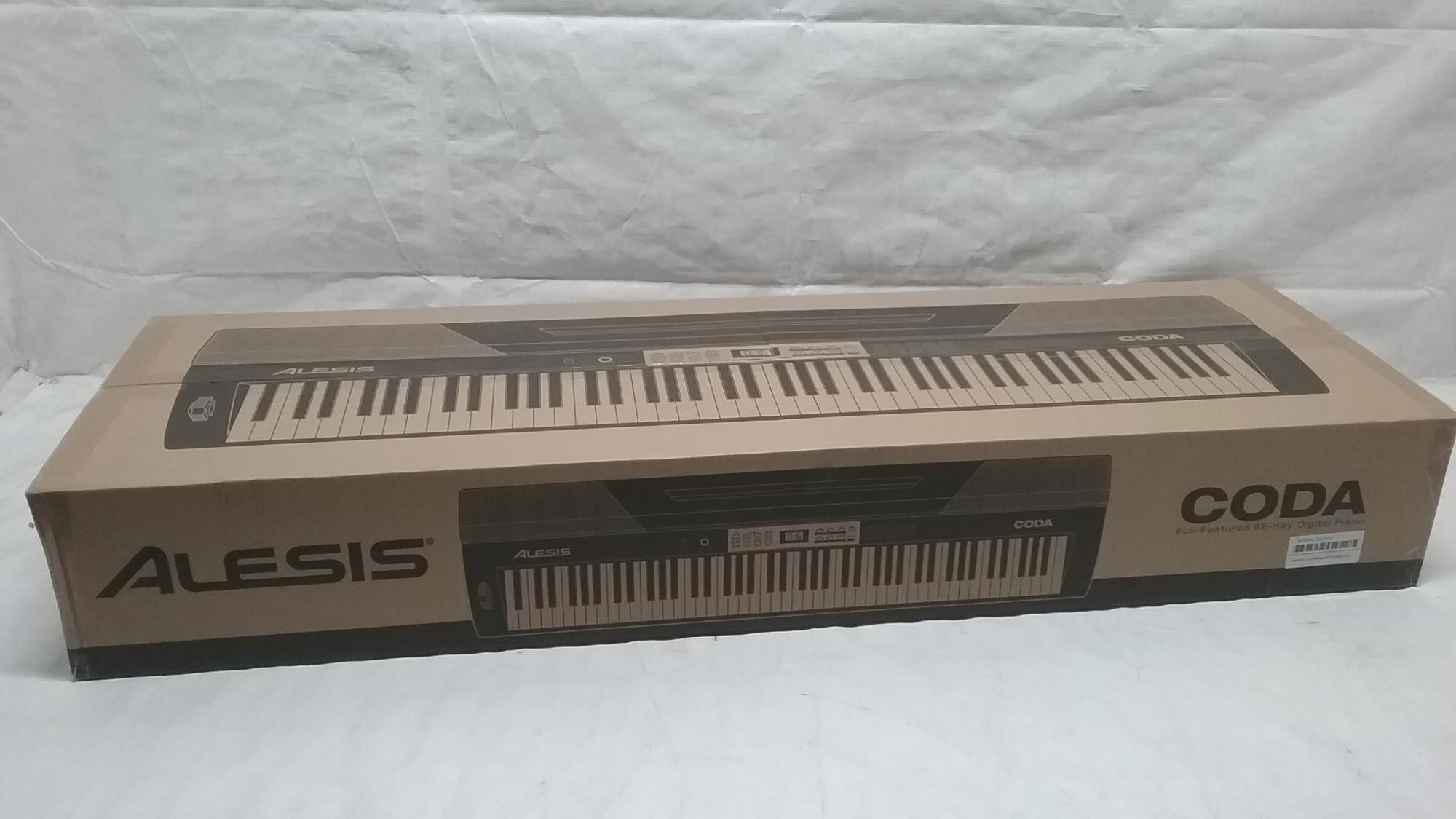 alesis coda 88 key digital piano with semi weighted keys split keyboard. Black Bedroom Furniture Sets. Home Design Ideas